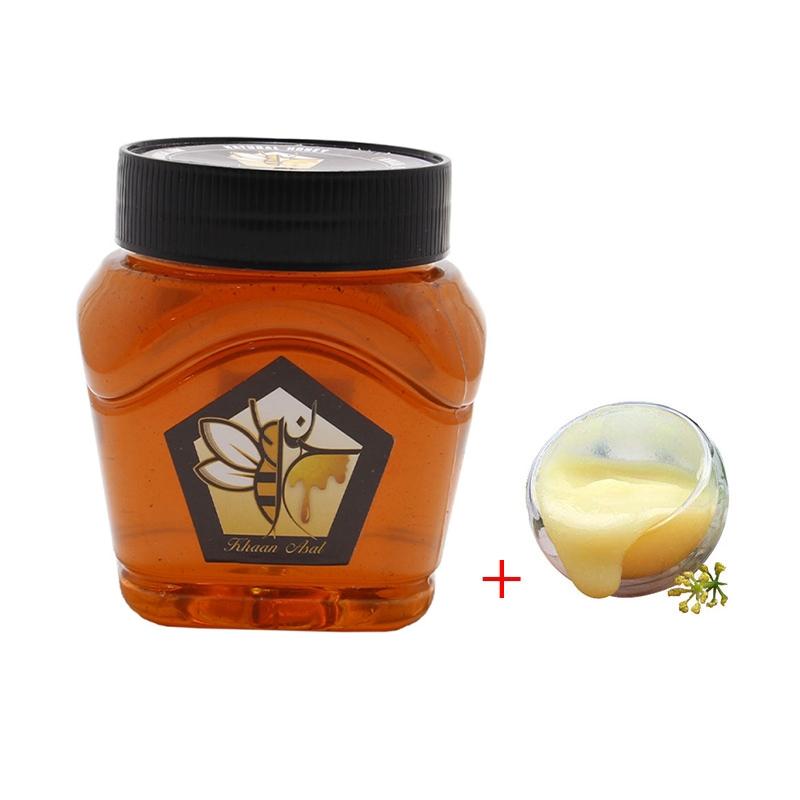 10 گرم ژل رویال مخلوط در نیم کیلو عسل آویشن