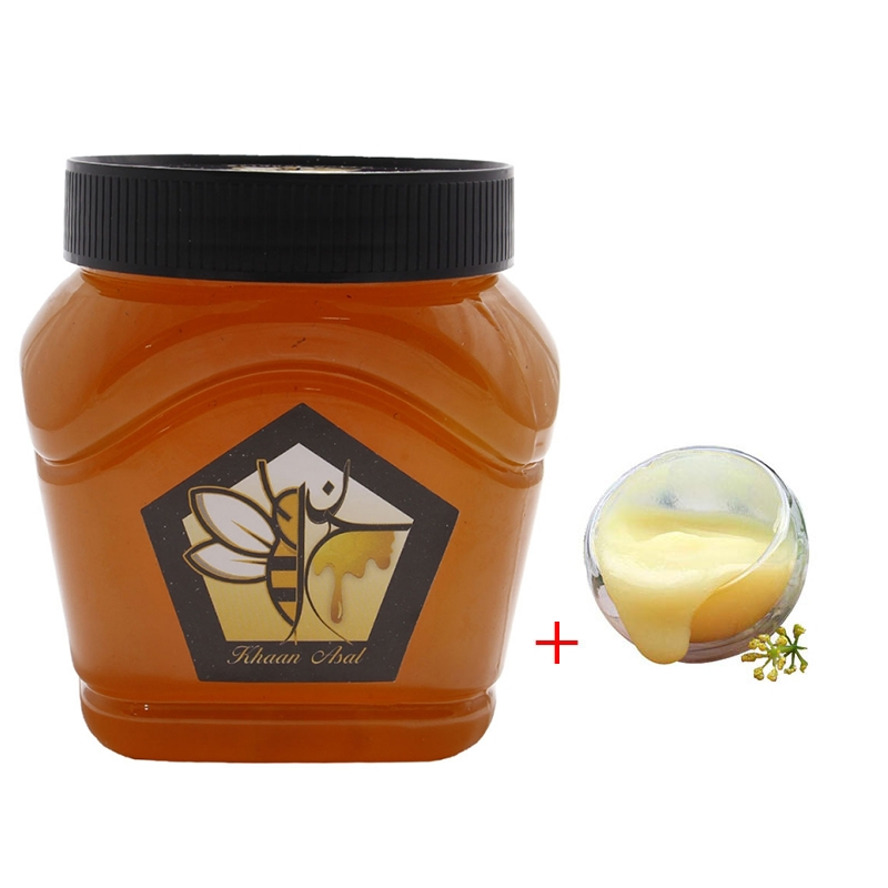 20 گرم ژل رویال مخلوط در یک کیلو عسل چهل گیاه